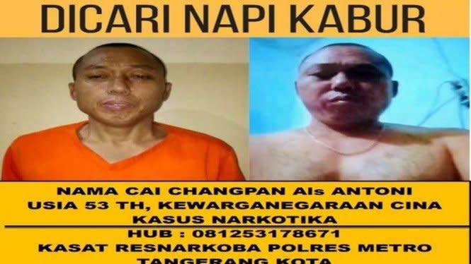 Hasil Autopsi: Napi China Cai Changpan Tewas 12 Jam Sebelum Ditemukan