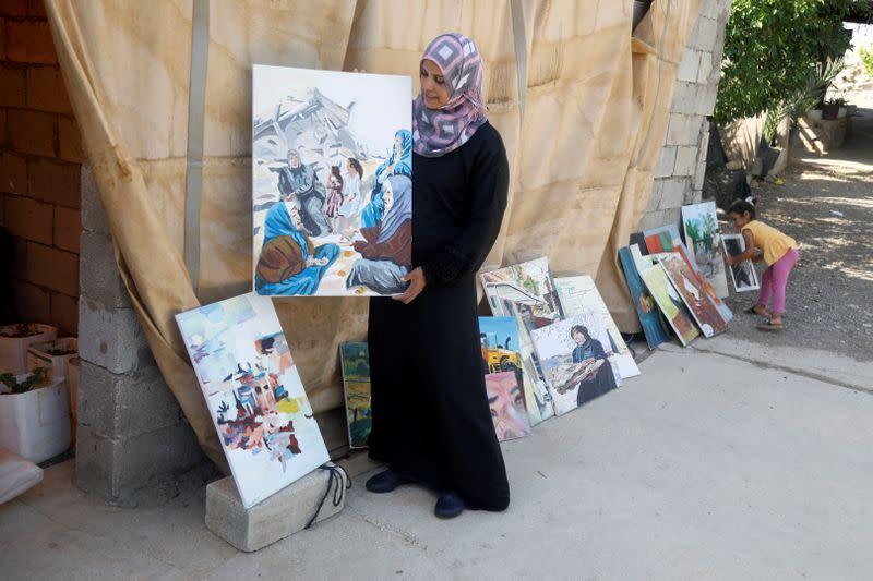 Pelukis Palestina salurkan ketakutannya terhadap aneksasi Israel
