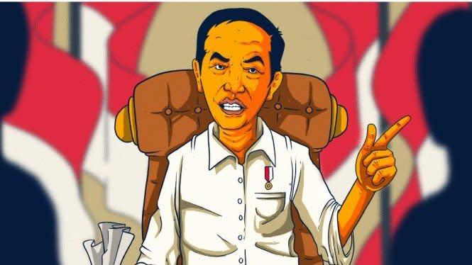 Video Jokowi Omeli Menteri Jadi Sorotan Warganet