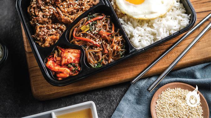 Paket nasi kotak Pochajjang. (dok. Pochajjang Korean BBQ)