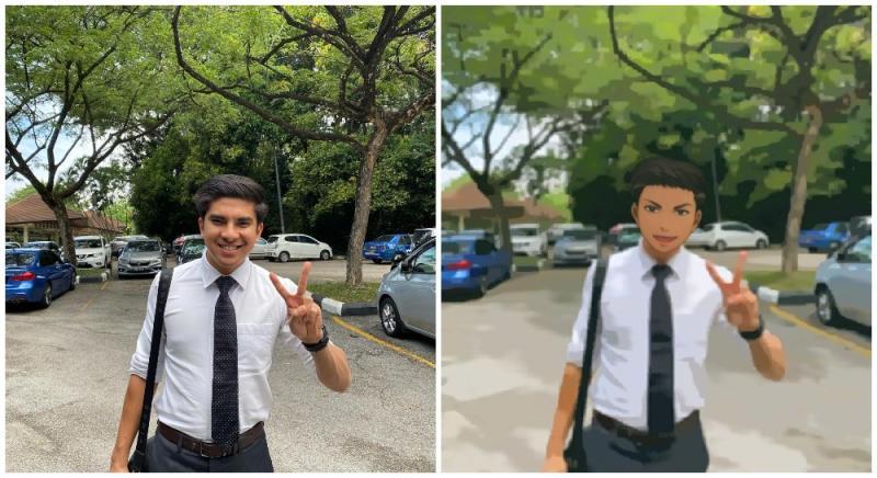Syed Saddiq and Anime Syed. Original photo by Syed Saddiq/Facebook