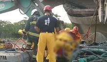 建材高處墜下!砸中挖土機 高雄50歲駕駛送醫急救死亡
