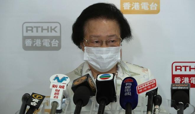 Maria Tam says there is nothing to discuss with those who oppose the new law. Photo: Edmond So