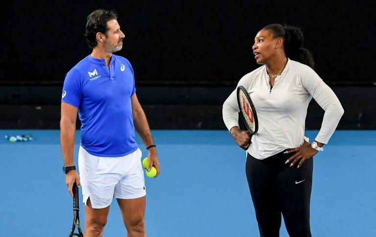 Coach and superstar: Serena Williams with Patrick Mouratoglou at last month's Australian Open