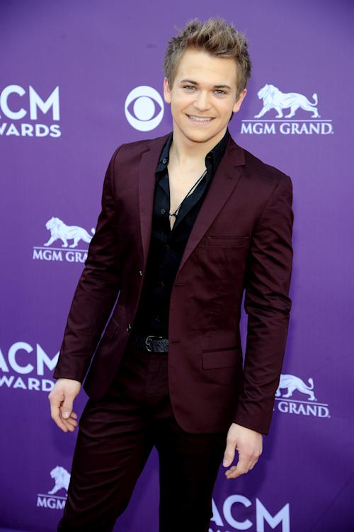 Singer Hunter Hayes arrives at the 48th Annual Academy of Country Music Awards at the MGM Grand Garden Arena in Las Vegas on Sunday, April 7, 2013. (Photo by Al Powers/Invision/AP)