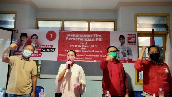 PSI Meluncurkan Tim Pemenangan Muhamad-Saraswati di Pilkada Tangsel