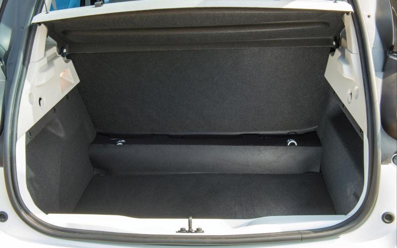 Renault Zoe electric car - boot