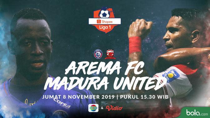 Saksikan Live Streaming Indosiar Arema FC vs Madura United, Eksklusif di Vidio