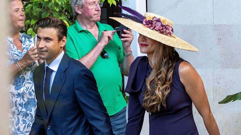 Tennis star David Ferrer and his wife Marta Tornel were among the wedding guests.
