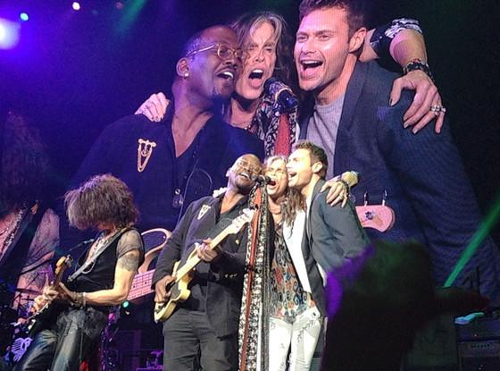 'Idol' Reunion! Randy Jackson & Ryan Seacrest Jam With Aerosmith Onstage