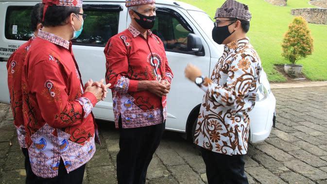 Bupati Banyuwangi Abdullah Azwar Anas dalam acara silaturahmi bersama Badan Musyawarah Antar Gereja (BAMAG) Banyuwangi di Pendopo, Jumat (7/8/2020).