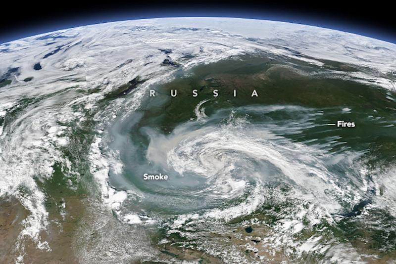 So Much of the Arctic Is on Fire, You Can See It From Space