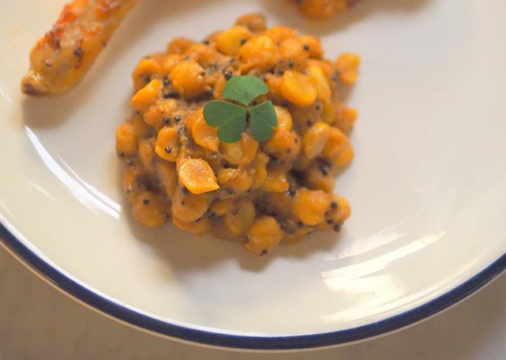 One of the sides available is braised chickpeas that can just be heated up for 10 minutes and served straight away