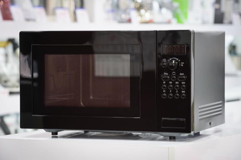 microwave on store shelf
