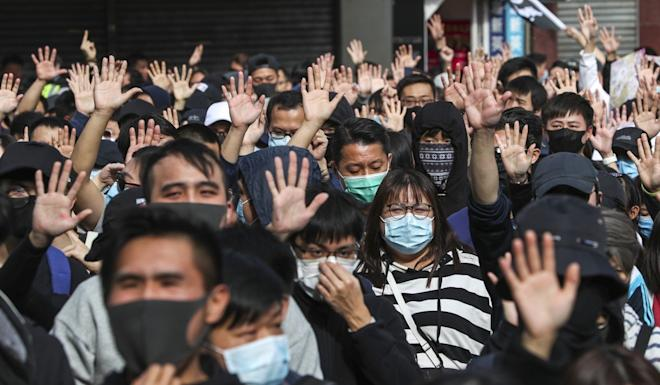 Protesters have often been labelled anti-China, but the survey seems to suggest that's wrong. Photo: Sam Tsang
