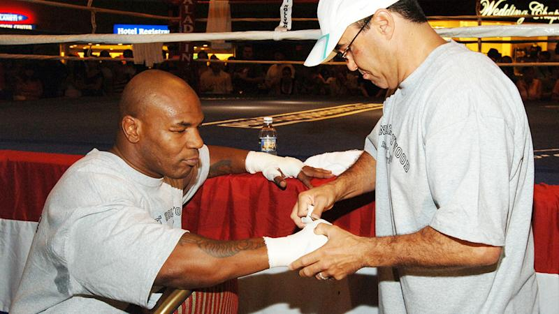 Jeff Fenech, pictured here with Mike Tyson.