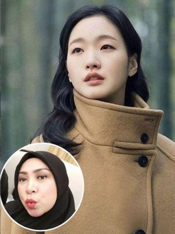 Sebelumnya, Melly Goeslaw memilih mirip artis Korea, Kim Go Eun. (Foto: Instagram/@melly_goeslaw)