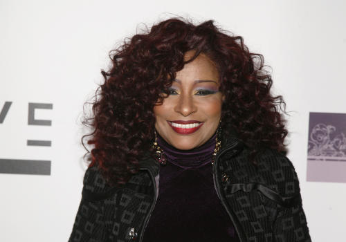 FILE - This March 26, 2013 file photo shows musician Chaka Kahn attending her birthday party in New York. Khan will be inducted into the Apollo Theater's hall of fame. The theater announced Thursday that Patti LaBelle and Mary J. Blige will perform in Khan's honor at its June 10 New York gala. (Photo by Andy Kropa/Invision/AP, file)