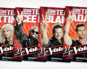 Win 'The Voice' Signed Team Posters from Yahoo! TV