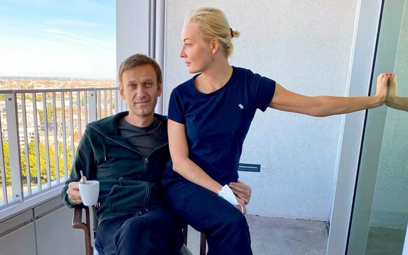 Alexei Navalny revealed last weekend that he was finally learning to walk again - Navalny Instagram via AP