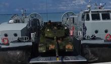 解放軍秀肌肉 粵西海訓出動野馬氣墊艇