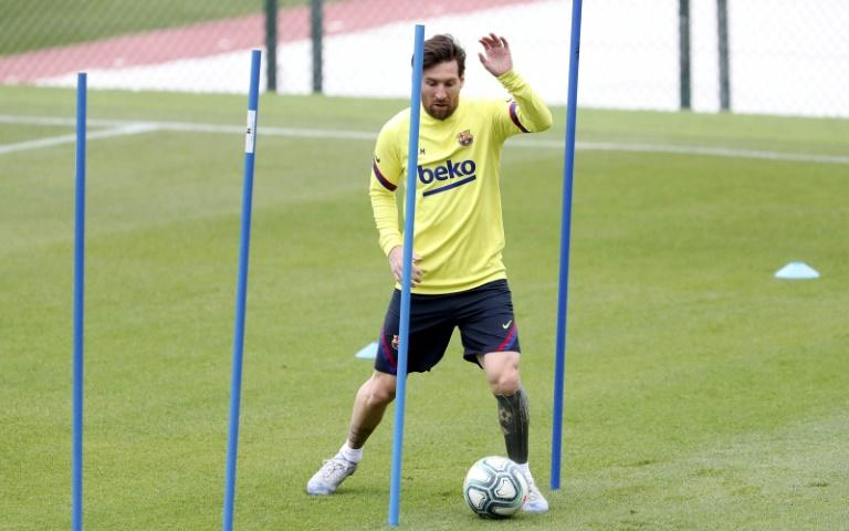 Lionel Messi back in training for Barcelona ahead of La Liga's planned restart