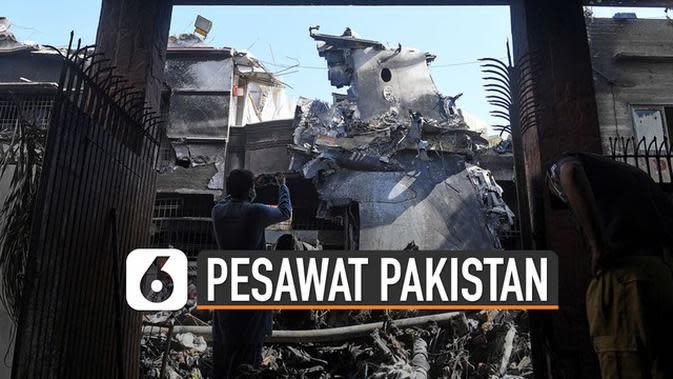 VIDEO: Pilot Tak Fokus Jadi Sebab Kecelakaan Pesawat Pakistan