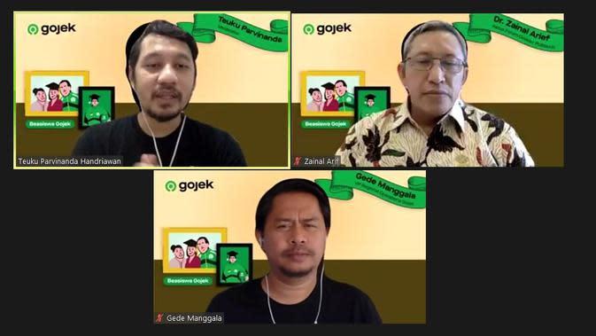 Beasiswa Gojek dari sejumlah daerah, dua di antaranya dari regional Jakarta (Dok.Gojek Indonesia)