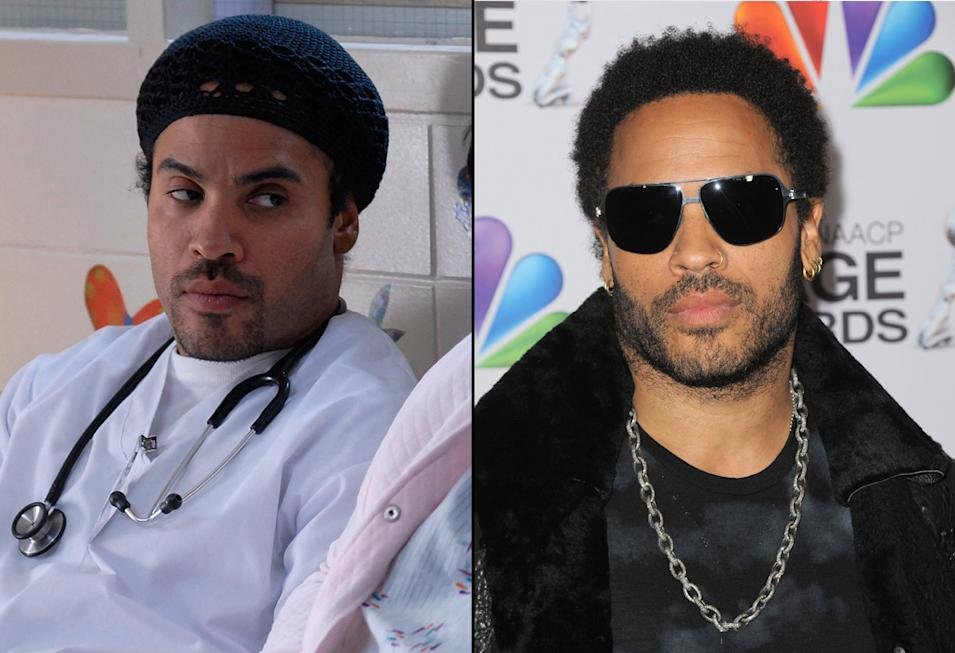 then and now the hunger games cast Lenny Kravitz