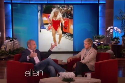 Matt Lauer Tells Ellen DeGeneres About His 'Baywatch' Halloween Costume, or 'Testicle Vice' (Video)