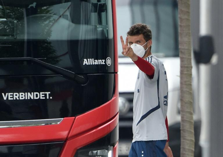 Bayern Munich star Thomas Mueller heads to an empty stadium in the capital for his team's clash with Union Berlin