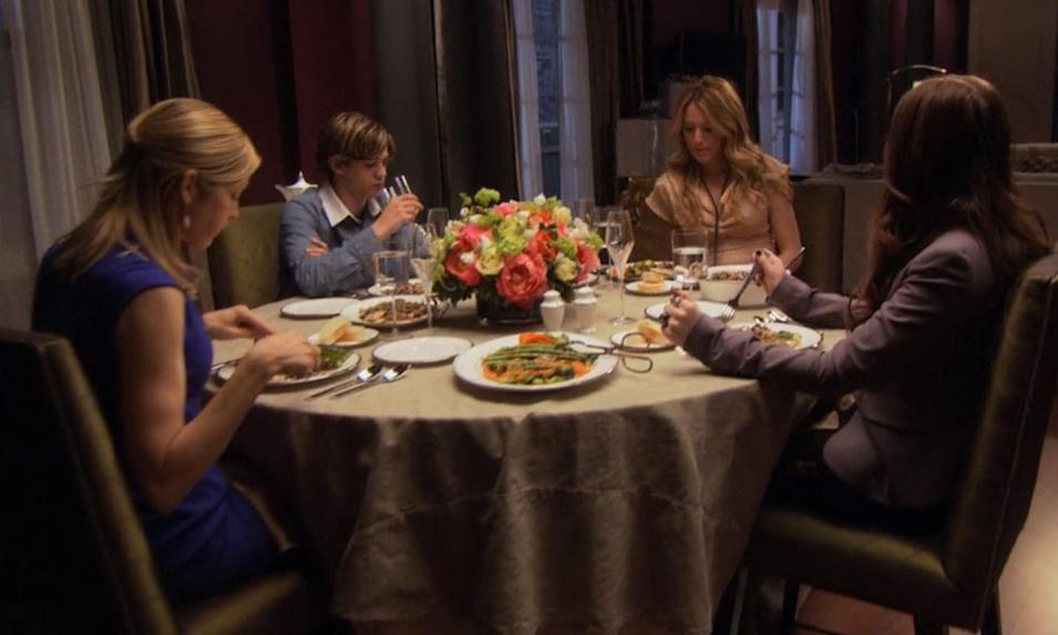Gossip Girl Superlatives - Oh no they didn't!: Georgina outs Eric at the dinner table (season 1, episode 16)