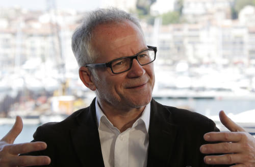 Cannes film festival general delegate Thierry Fremaux speaks during an interview with The Associated Press at the 66th international film festival, in Cannes, southern France, Tuesday, May 14, 2013. (AP Photo/Francois Mori)