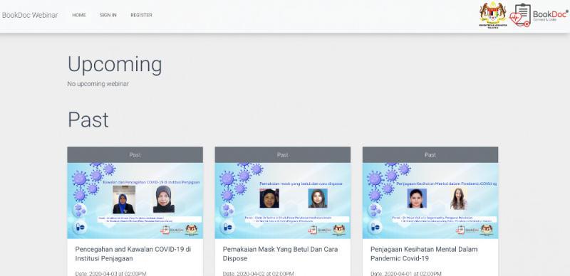 The Webinar video site where you can video their 'Webinar' sessions. — SoyaCincau pic