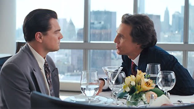 Matthew McConaughey Charms and Hums His Way Through 'The Wolf of Wall Street' Trailer