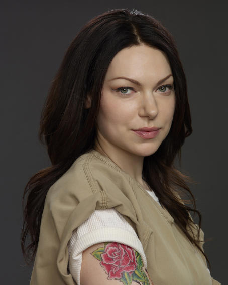 "Laura Prepon stars in ""ORANGE IS THE NEW BLACK"" on Netflix."