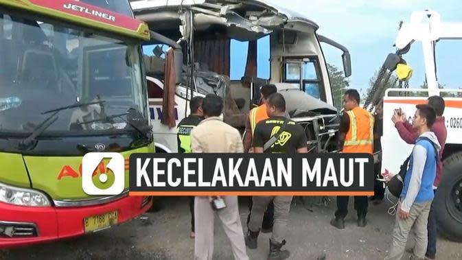VIDEO: Kecelakaan Maut, Sopir Bus Sinar Jaya Jadi Tersangka