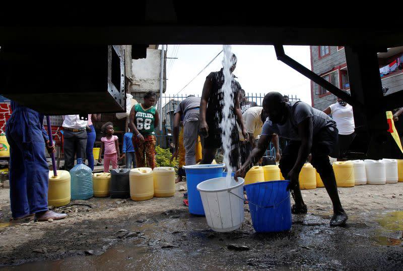 Taps run dry in Kenya's capital as coronavirus spreads