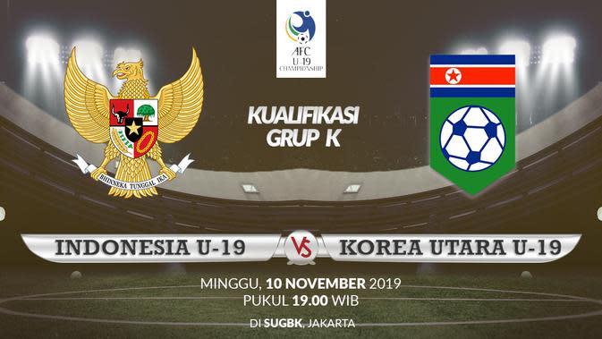 Imbangi Korea Utara, Timnas Indonesia U-19 Lolos ke Piala AFC U-19 2020