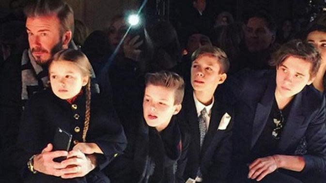 Rupanya David Beckham dan anak-anaknya masih menikmati liburan di Bali (AP Photo)