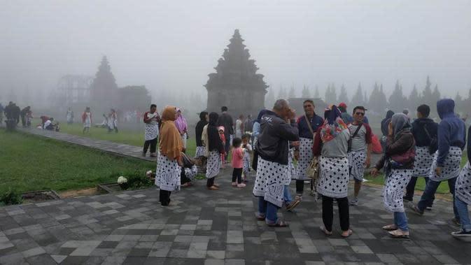 Kompleks candi Arjuna, Dieng, Jawa Tengah. (Foto: Liputan6.com/UPT Dieng/Muhamad Ridlo)