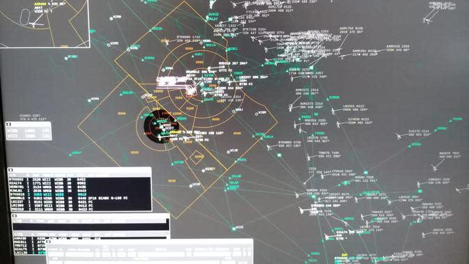 Radar penerbangan AIrNav Indonesia (dok: Ilyas)