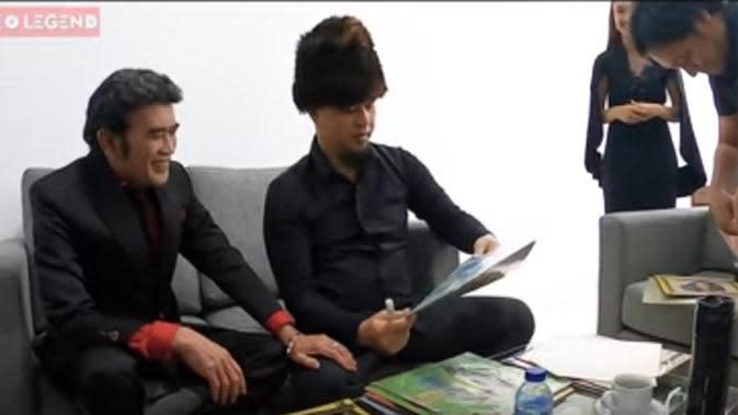 Ahmad Dhani dan Rhoma Irama (Youtube/VIDEO LEGEND)