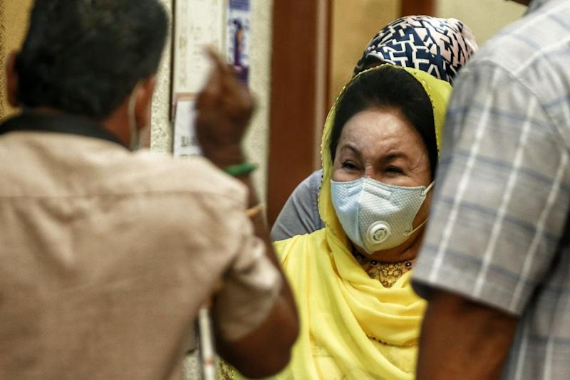 Datin Seri Rosmah Mansor is pictured at the Kuala Lumpur High Court August 6, 2020. ― Picture by Ahmad Zamzahuri