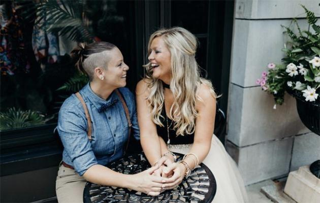 Shannon Kennedy, left, and Julie Ann Samanas were turned away from a bridal boutique because they're gay. Photo: Tara Beth Photography