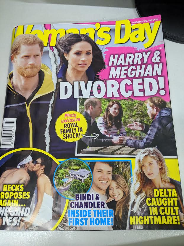 A Woman's Day article detailed the royals' apparent plans to oust Meghan from her marriage.