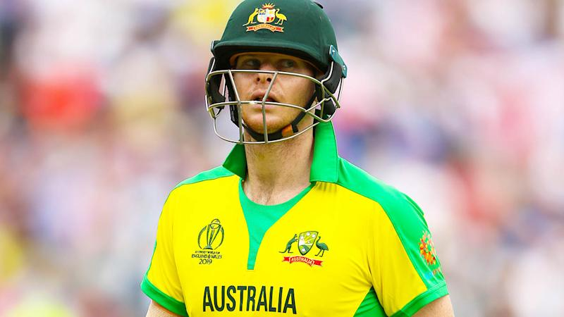 English fans booed Steve Smith off the field even after a classy knock of 85. (Photo by Nigel French/PA Images via Getty Images)