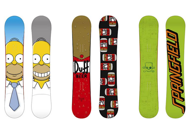 """The Simpsons"" Snowboards by Santa Cruz"