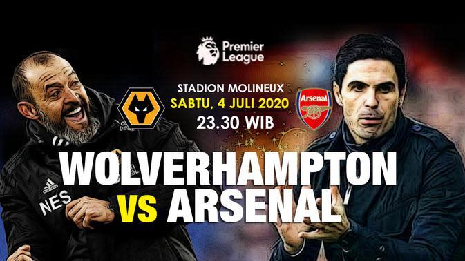 Wolverhampton vs Arsenal (Liputan6.com / Triyasni)
