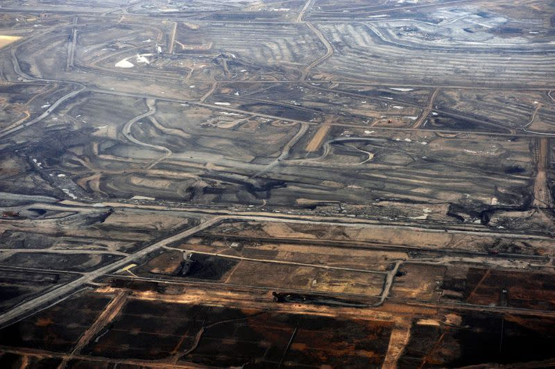 FILE PHOTO: The Syncrude tar sands mine north of Fort McMurray.